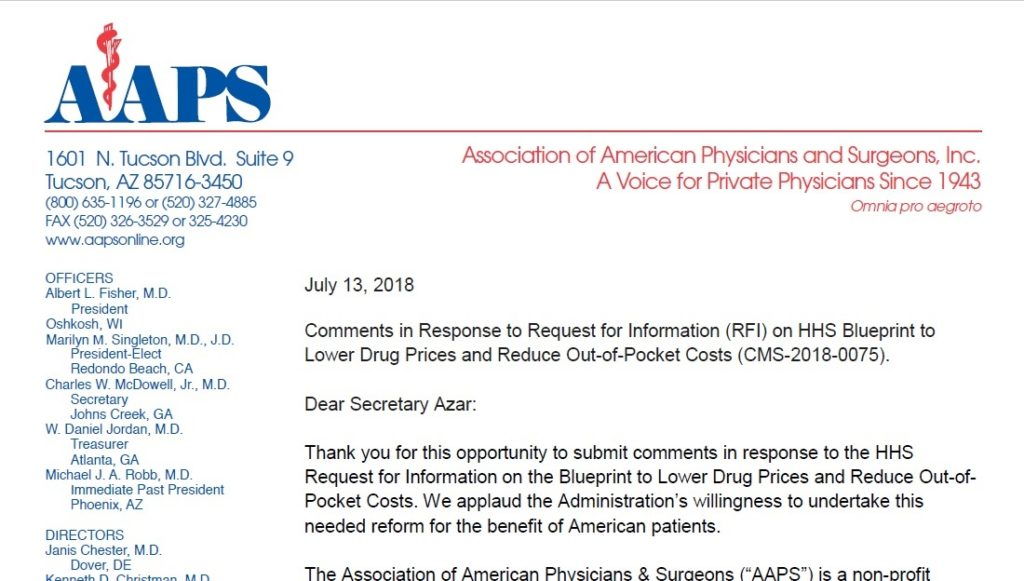 Comments on hhs blueprint to lower drug prices aaps association comments on hhs blueprint to lower drug prices malvernweather Image collections