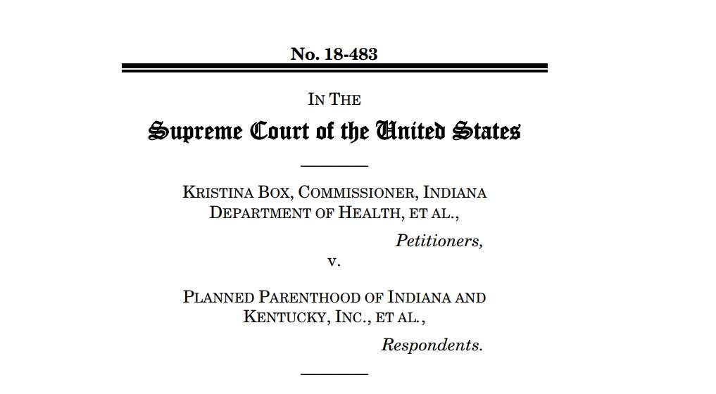 AAPS Asks Supreme Court to Uphold Indiana Law Opposed by